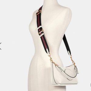 COACH pebble leather white  crossbody bag. NWT